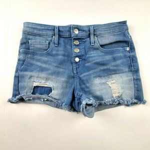 Mossimo Mid Rise Button Fly Cutoff Jean Shorts